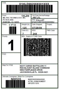 MSL RFID Label Format