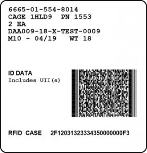 Mil-Std-129R RFID with PDF417