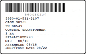 Simple Mil-Std-129R Unit Container Label