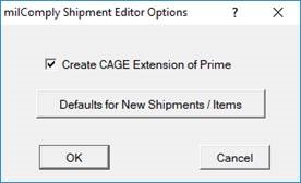 Configuring use of CAGE Extensions