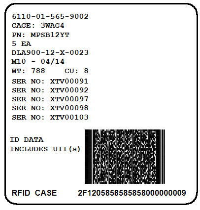 RFID Exterior Container (Case) Label